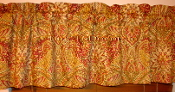 Window drapery valance Waverly Toraja in Crimson