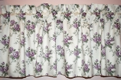 New Custom Waverly Tea Rose Purple Lavender VALANCE